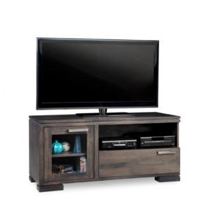 cordova 48 tv console, custom tv console, handstone, solid wood furniture, rustic wood furniture, maple, oak, made in canada, canadian made, customizable, contemporary, modern, urban