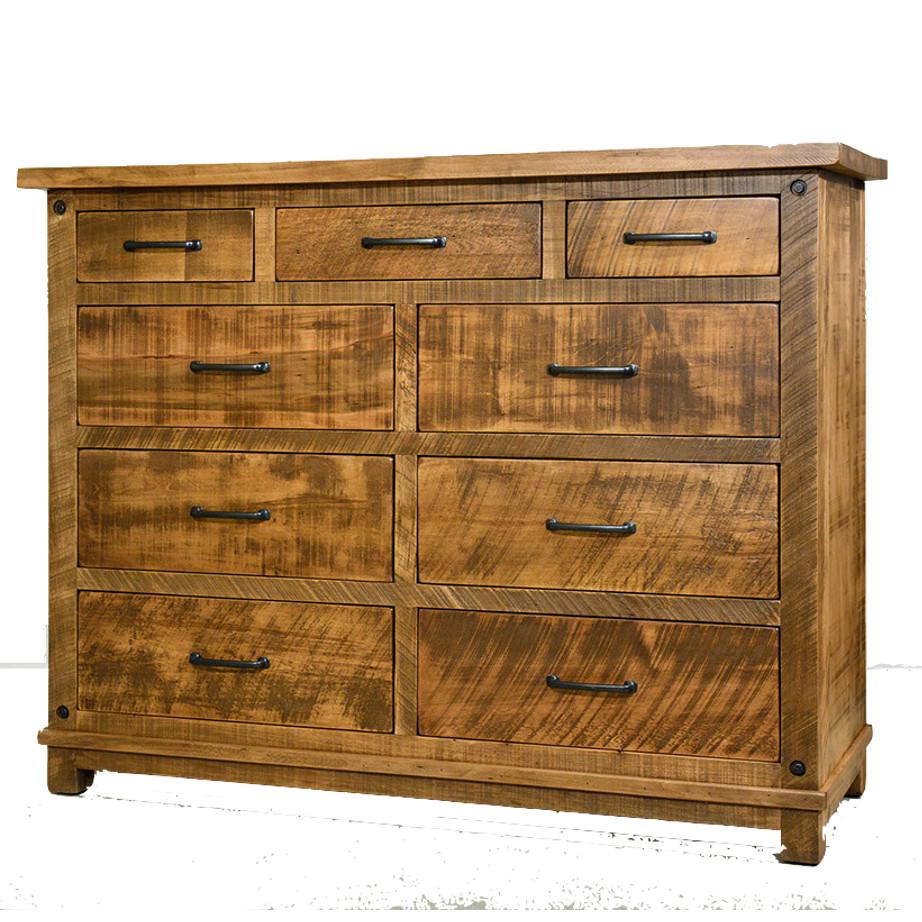 solid wood dresser, rustic furniture, made in canada, canadian made, custom dresser, hand crafted, ruff sawn, distressed wood finish, adirondack dresser
