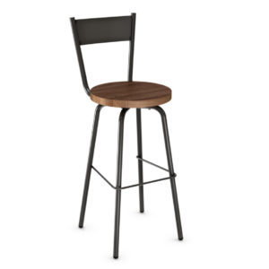custom stool, metal, iron, steel, fabric, leather, distressed wood, solid birch, traditional, modern, urban, rustic, bar, pub, counter, island, kitchen, amiss, made in canada, crystal stool