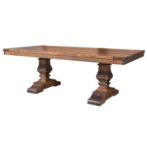 contemporary, distressed, extension table, farmhouse, industrial, leaf, leaves, made in canada, maple, modern, ruff sawn, rustic, solid top, solid wood, Dining Room, Tables, Trestle Tables, rustic wood kitchen furniture, modern kitchen furniture, kitchen furniture, custom built kitchen furniture, Heritage Table, Heritage, Table