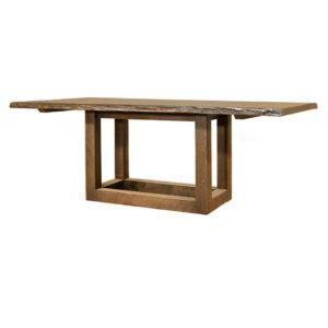 Pillar Live Edge Table, ruff sawn table, solid wood table, live edge table, natural edge table, custom table, canadian made dining table, solid wood dining table, knex live edge table