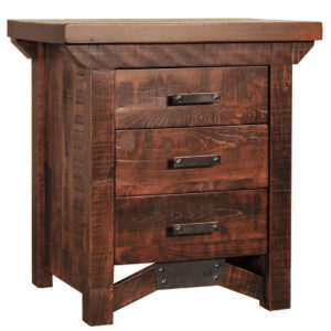 solid wood bedroom furniture, canadian made bedroom furniture, ruff sawn bedroom furniture, rustic bedroom furniture, rustic carlisle night stand