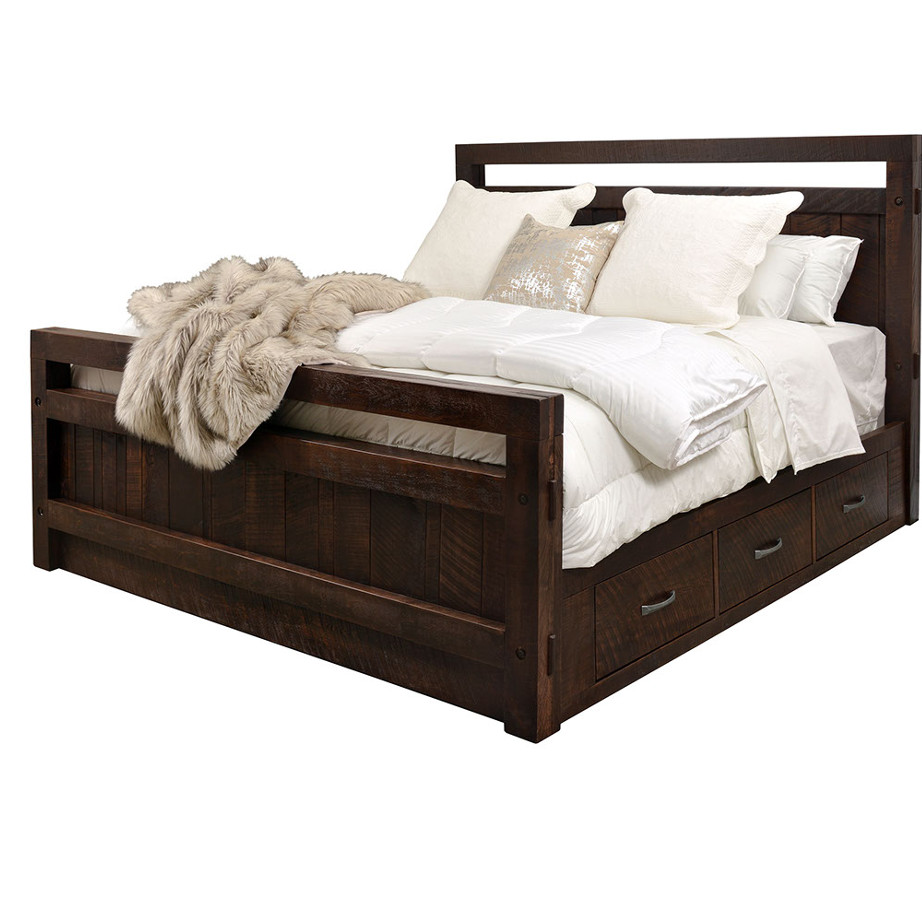 timber bed with drawers, solid wood bedroom furniture, ruff sawn bedroom furniture, custom built bedroom furniture, canadian made bedroom furniture, rustic bedroom furniture, timber bed, timber bed with drawers, timber storage bed, platform bed