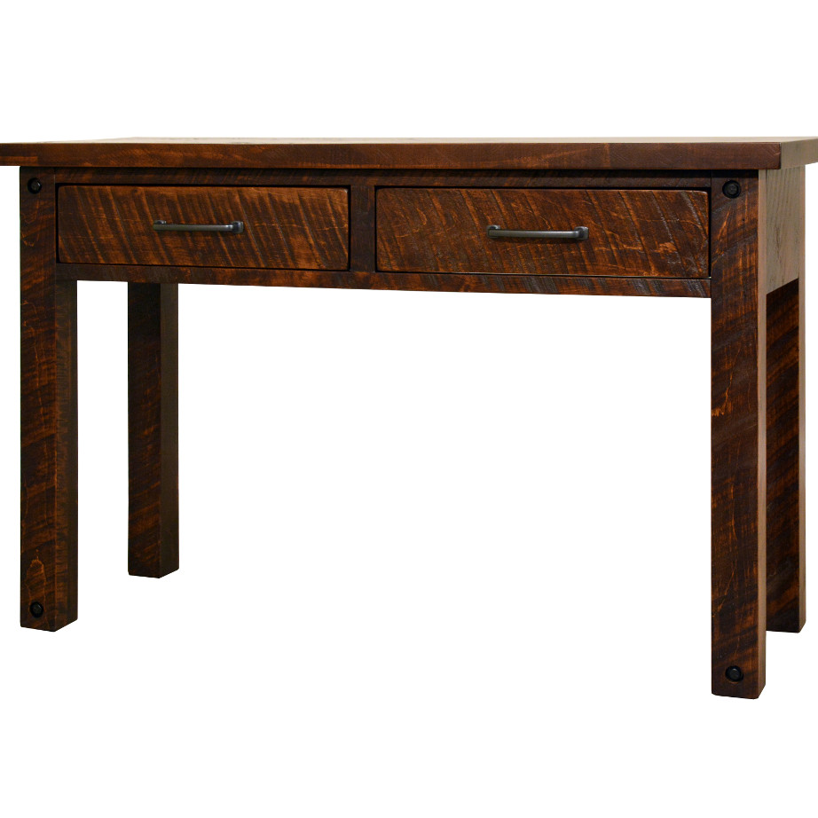 coffee table, solid wood, rustic maple, ruff sawn, modern, urban, contemporary, rustic sofa table, console table, hall table, adirondack sofa table