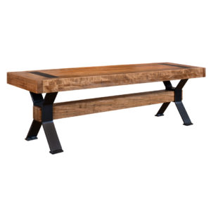 arthur phillipe bench, solid wood, bench, rustic wood, table bench, custom bench, Canadian made, made in canada, metal details, urban wood, reclaimed wood, arthur phillips bench