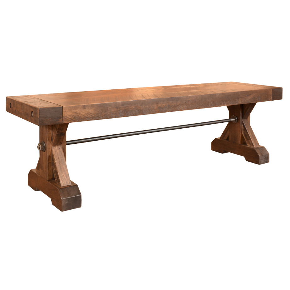 solid wood, bench, rustic wood, table bench, custom bench, Canadian made, made in canada, metal details, urban wood, reclaimed wood, chesapeake bench