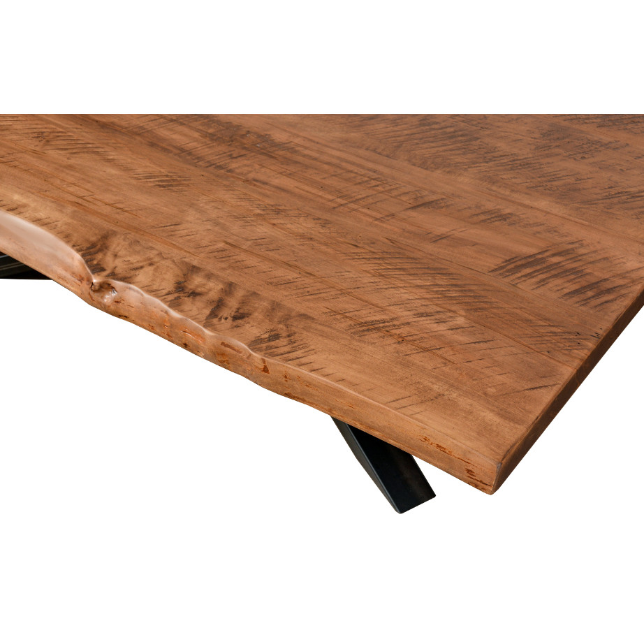 coffee table, solid wood, rustic maple, ruff sawn, modern, urban, contemporary, metal base, hedgehog live edge coffee table