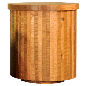 coffee table, solid wood, rustic maple, ruff sawn, modern, urban, contemporary, round, ledge rock round end table