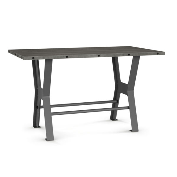 parade pub table, rustic pub table, amisco, contemporary pub table, games table, counter height, custom table, metal table, industrial table